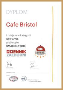 Dyplom Cafe Bristol Miniatura